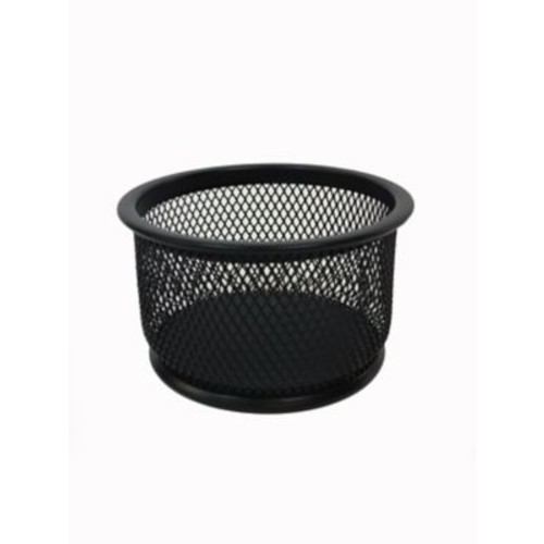 Buddy Products Mesh Round Paper Clip Holder, Black
