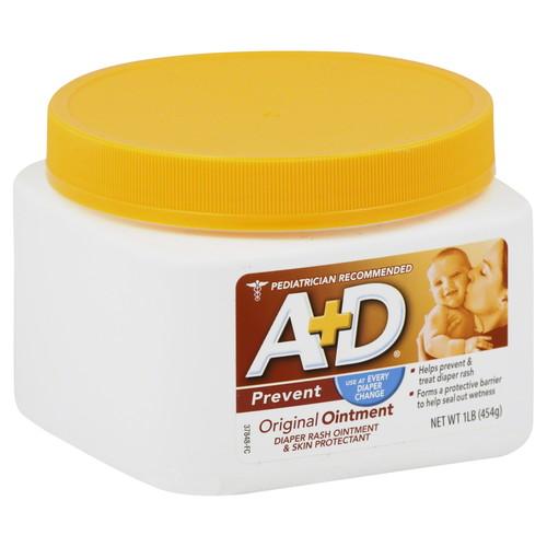 A&D Diaper Rash Ointment u0026 Skin Protectant, Original, 1 lb (454 g)