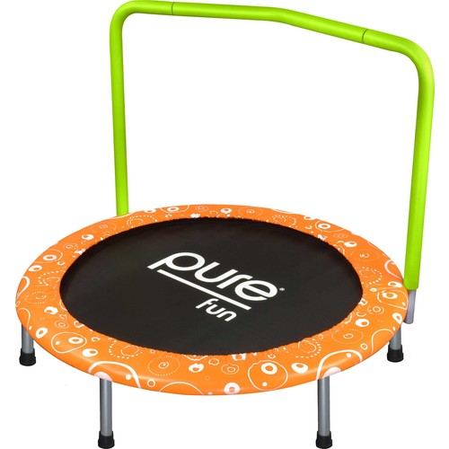 Pure Fun 36 Foldable Trampoline with Handrail