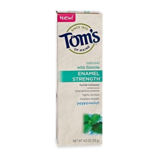Tom's of Maine 4 oz. Enamel Strength Natural Toothpaste in Peppermint