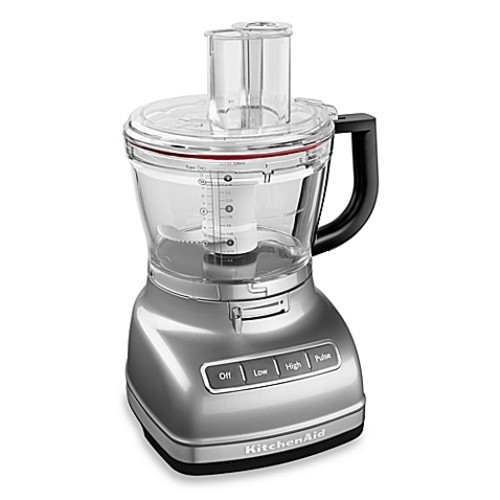 KitchenAid 14-Cup Food Processor with Dicing Kit in Silver