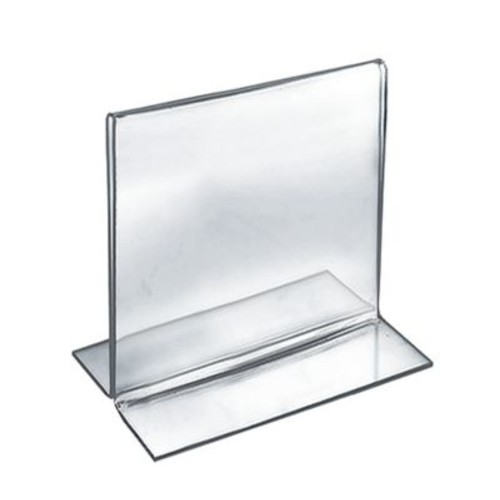 Azar Plastic 2-Sided Double-Foot Square Sign Holder, 5