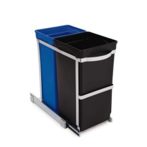 simplehuman 35-Liter Commercial-Grade Under-Counter Pull-Out Recycling Trash Can