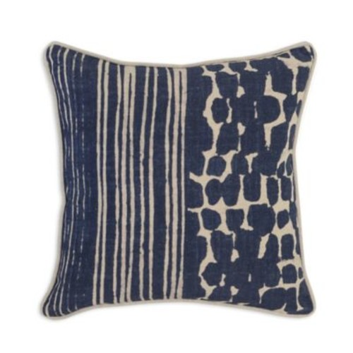 Villa Home RE Sinola Square Throw Pillow in Natural/Navy