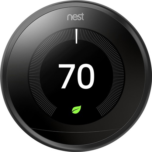 Nest - Learning Thermostat - 3rd Generation - Black