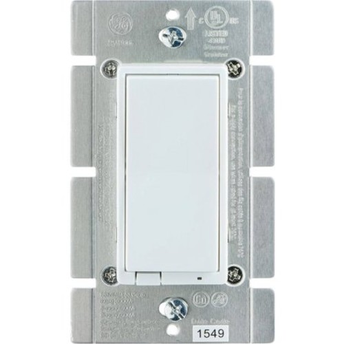 GE 12725 In-Wall Indoor Smart Dimmer, Hub Required