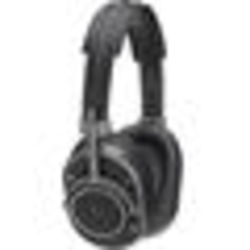 Master & Dynamic MH40 (Gunmetal/Black Leather) Over-ear headphones with Apple remote and microphone