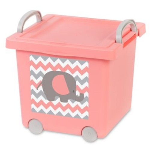 IRIS Baby Toy Storage Boxes in Pink (Set of 4)