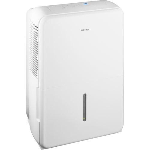 Insignia - 50-Pint Portable Dehumidifier - White
