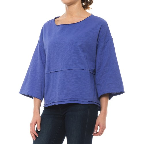 Neon Buddha Retro Raw-Edge Shirt - Relaxed Fit, 3/4 Sleeve (For Women)