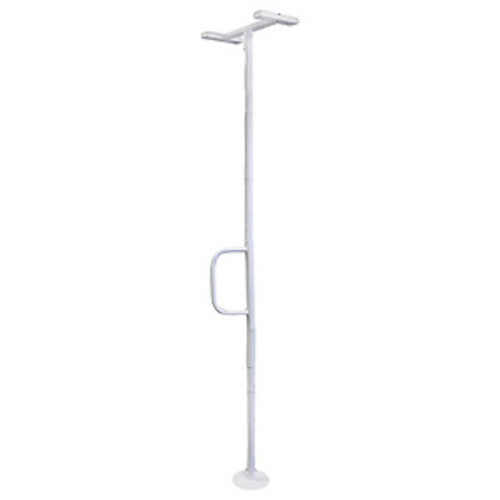 Able Life Universal Floor to Ceiling Grab Bar, White