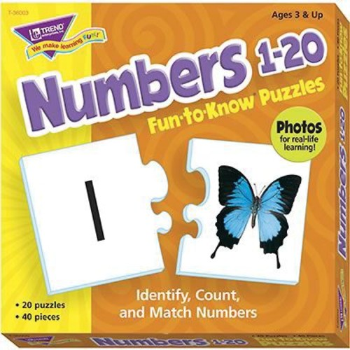 Trend Enterprises Fun-to-Know Puzzle, Numbers 1 - 20