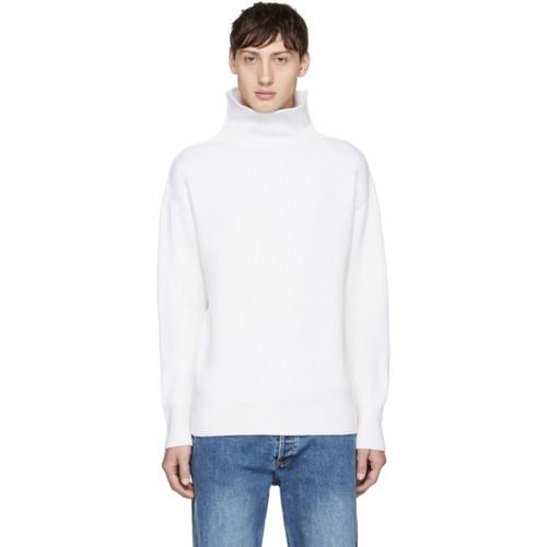 RAG & BONE Off-White Andrew Funnel Neck Sweater