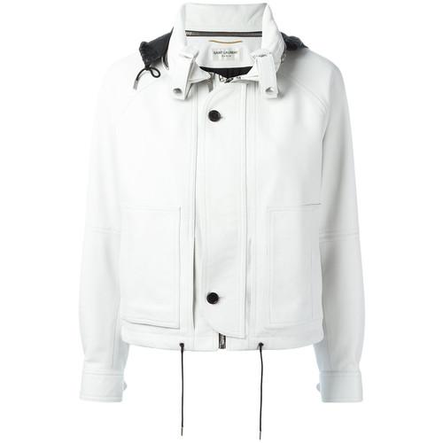 SAINT LAURENT Hooded Cropped Jacket