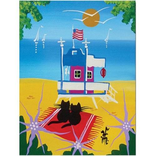 The Beach by Herbert Hofer, 18x24-Inch Canvas Wall Art