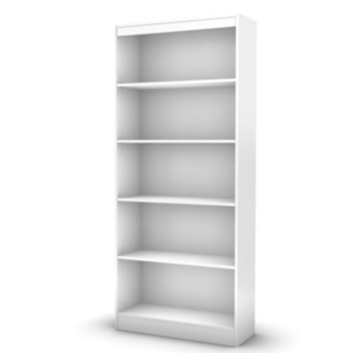 South Shore Pure White Gascony 4-shelf Bookcase
