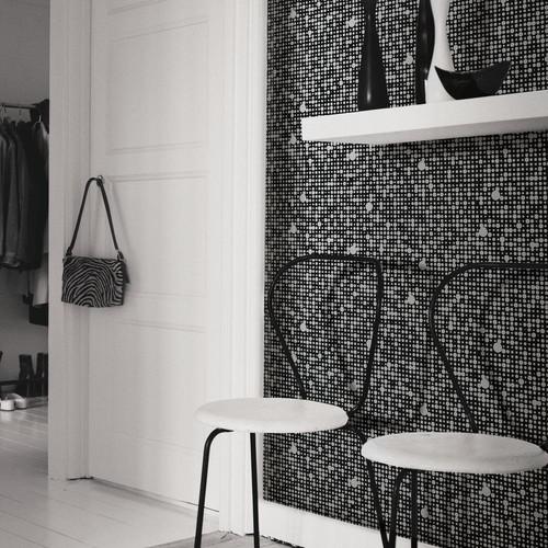 RoomMates 28.18 sq. ft. Black Polka Dot Peel and Stick Wall Decor