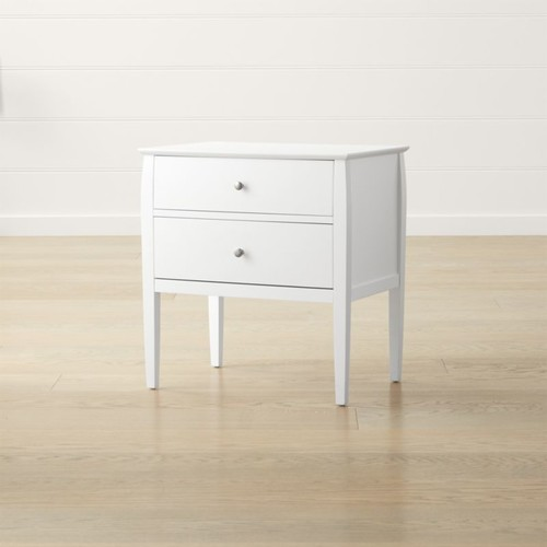 Mason 2-Drawer White Nightstand
