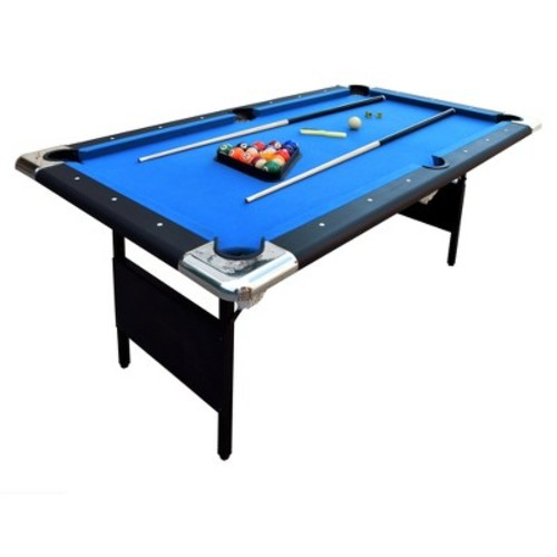 Hathaway Fairmont 6 ft. Portable Pool Table [Blue (Table Top), 6 ft.]