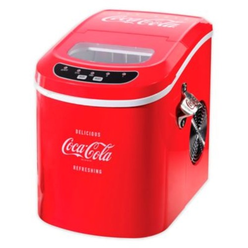 Nostalgia Electrics Coca-Cola 26 lb. Automatic Ice Cube Maker in Red