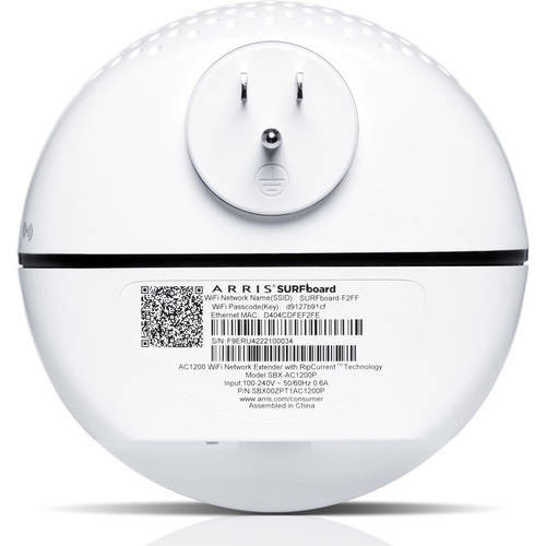 ARRIS SURFboard Gigabit Home Network Extender SBX-AC1200P DBC 802.11n/ac G.hn ROHS