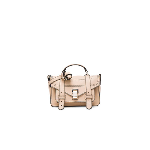 Proenza Schouler Tiny PS1+ Grainy Calf Leather in Sand