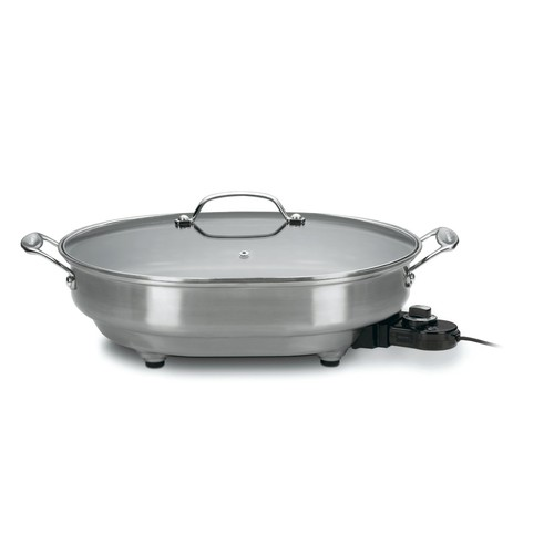 Cuisinart CSK-150 1500-Watt Nonstick Oval Electric Skillet [Brushed Stainless, 18 IN]