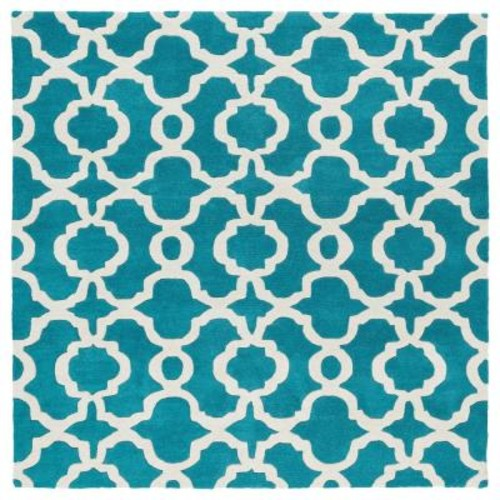 Kaleen Revolution Teal 12 ft. x 12 ft. Square Area Rug