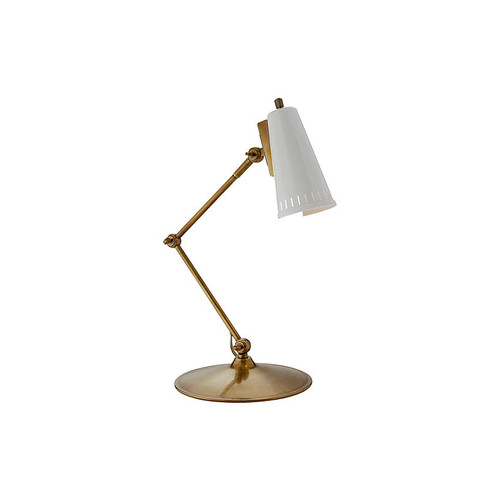 Antonio Articulating Task Lamp, Brass/White