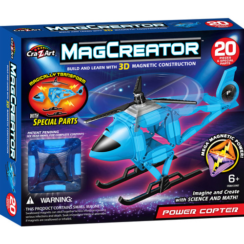 Cra-z-Art MagCreator Magnetic Construction Building Set - Helicopter