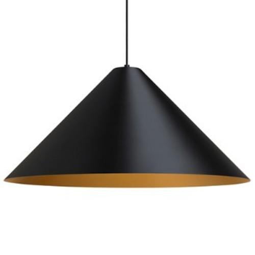 Konos Pendant Light [Finish : Black with Satin Gold interior; Light Option : Incandescent]
