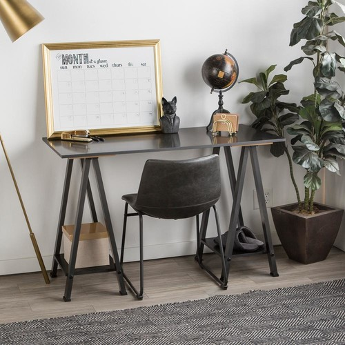 Walker Edison Furniture Company Home Office Black Desk