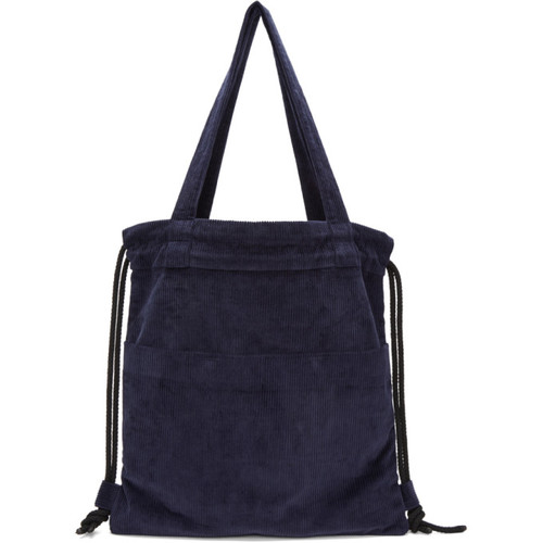 Navy Convertible Canvas Tote