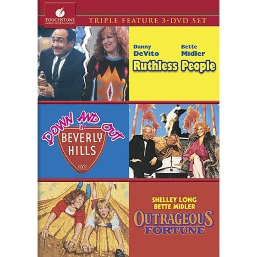 Ruthless People/Down And Out In Beverly Hills/Outrageous Fortune 3-Movie Collection: Danny De Vito, Bette Midler, Judge Reinhold, Helen Slater, Anita Morris, Bill Pullman, William Schilling, Art Evans, Clarence Felder, J. E. Freeman, Gary Riley, Phyllis Applegate, Jeannine Bisignano, J.P. Bumstead, Jon Cutler, Susan Marie Snyder, Jim Doughan, Frank Sivero, Arnold Turner, Bob Tzudiker, Louise Yaffe, Janet Rotblatt, Charles A Vanegas, Charlotte Zucker, Arturo Bonilla, Ron Tank, Suzan Stadner, Richard Wilson, Rick Dereyes, Mie Hunt, Jim Abrahams, Jerry Zucker, David Zucker: Movies & TV