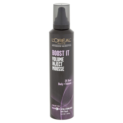 L'Oreal Paris Advanced Hairstyle BOOST IT Volume Inject Mousse, 8.3 Oz