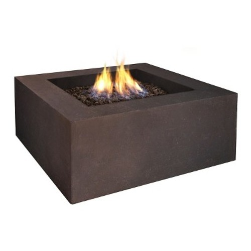 Real Flame Natural Gas Baltic Square Fire Table-Kodiak Brown