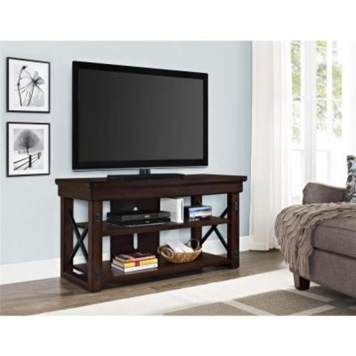 Altra Furniture Wildwood Mahogany Storage Entertainment Center