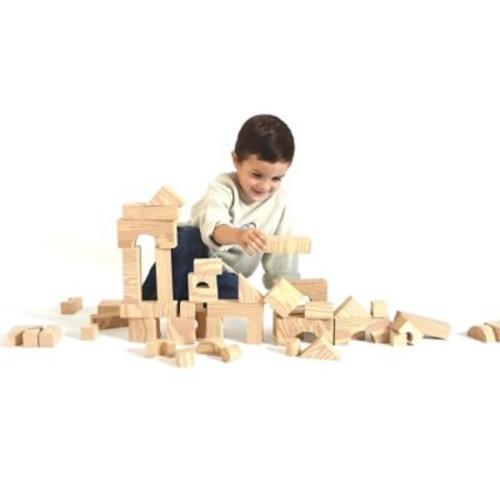 Edushape Woodgrain Foam Blocks, 80 Pieces