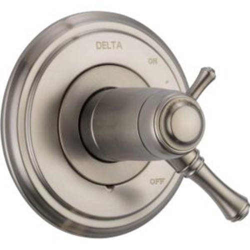Delta Cassidy TempAssure 17T Series 1-Handle Volume/Temperature Control Valve Trim Kit Only in Stainless (Valve Not Included)