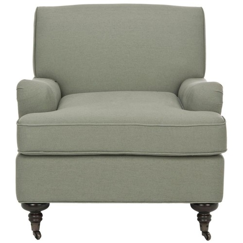 Safavieh Chloe Sea Mist Blue Linen Club Arm Chair