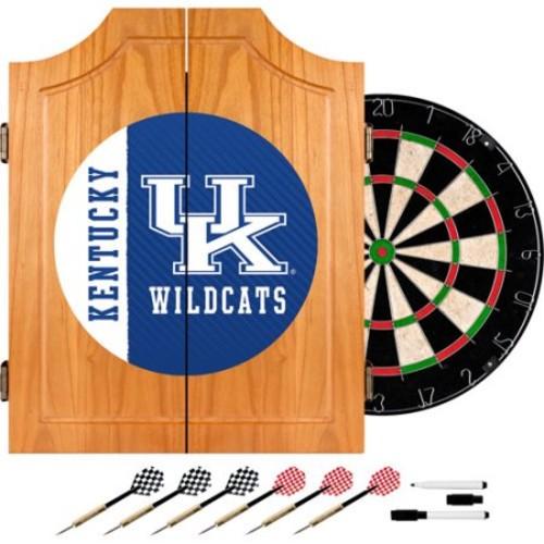 Trademark Global University of Kentucky Text 20.5 in. Wood Dart Cabinet Set
