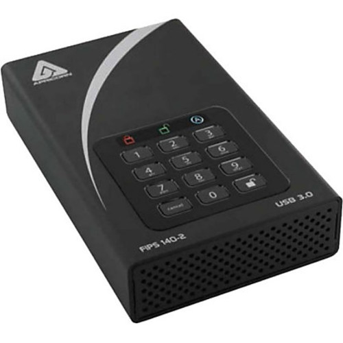 Apricorn Aegis Padlock DT FIPS ADT-3PL256F-2000 2 TB External Hard Drive