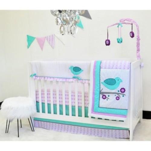 Pam Grace Creations Love Birds 10-Piece Nursery Bedding Set