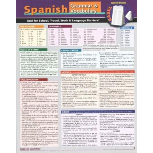 Spanish Easel: Reference, Remind, Study & Know (Paperback)