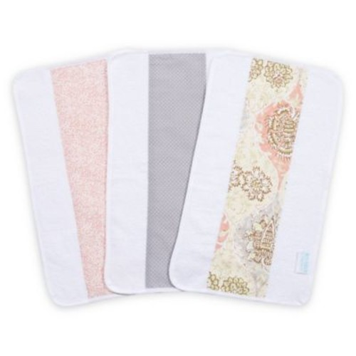 Trend Lab Waverly Rosewater Glam Play 3-Pack Jumbo Burp Cloth Set