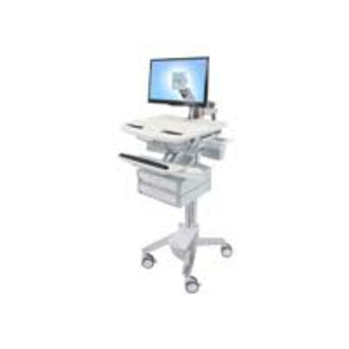 Ergotron StyleView - Cart with LCD Arm, 2 Drawers - Cart for LCD display / keyboard / mouse / bar code scanner / CPU