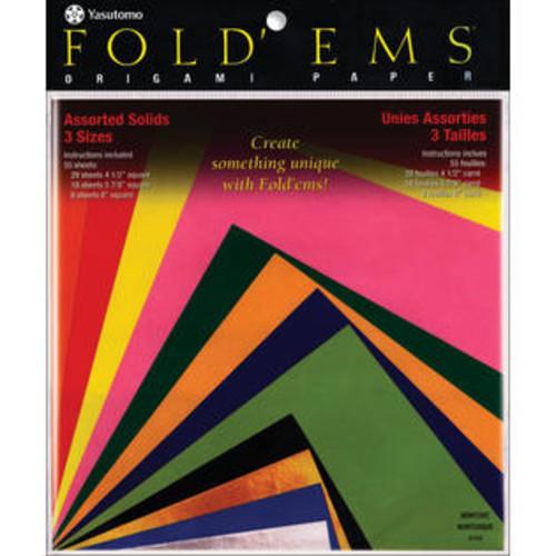 Yasutomo 4104 Fold &'Ems Origami Paper 55/Pkg