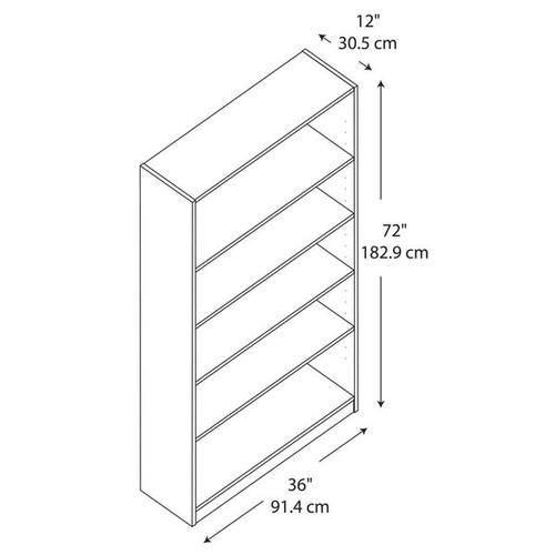 Bush Furniture Office Storage & Organization Universal Vogue Cherry 5-shelf Bookcase