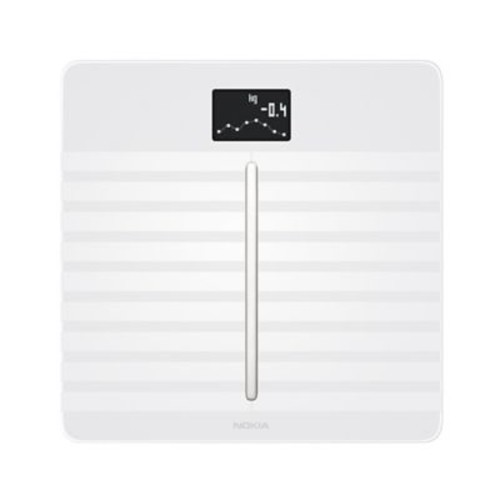 Nokia Body Cardio WBS04 Heart Health/Body Composition Wi-Fi Smart Scale, White, 396 lbs.