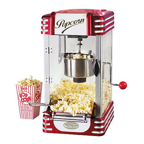 Nostalgia Electrics Retro-Style Kettle Popcorn Maker, Red